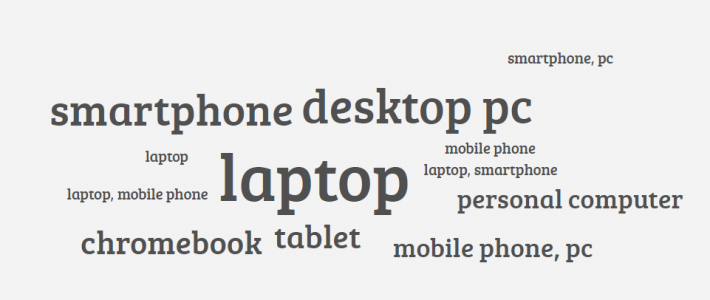 Which devices do your students/learners use?