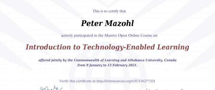 Certificate in TEL